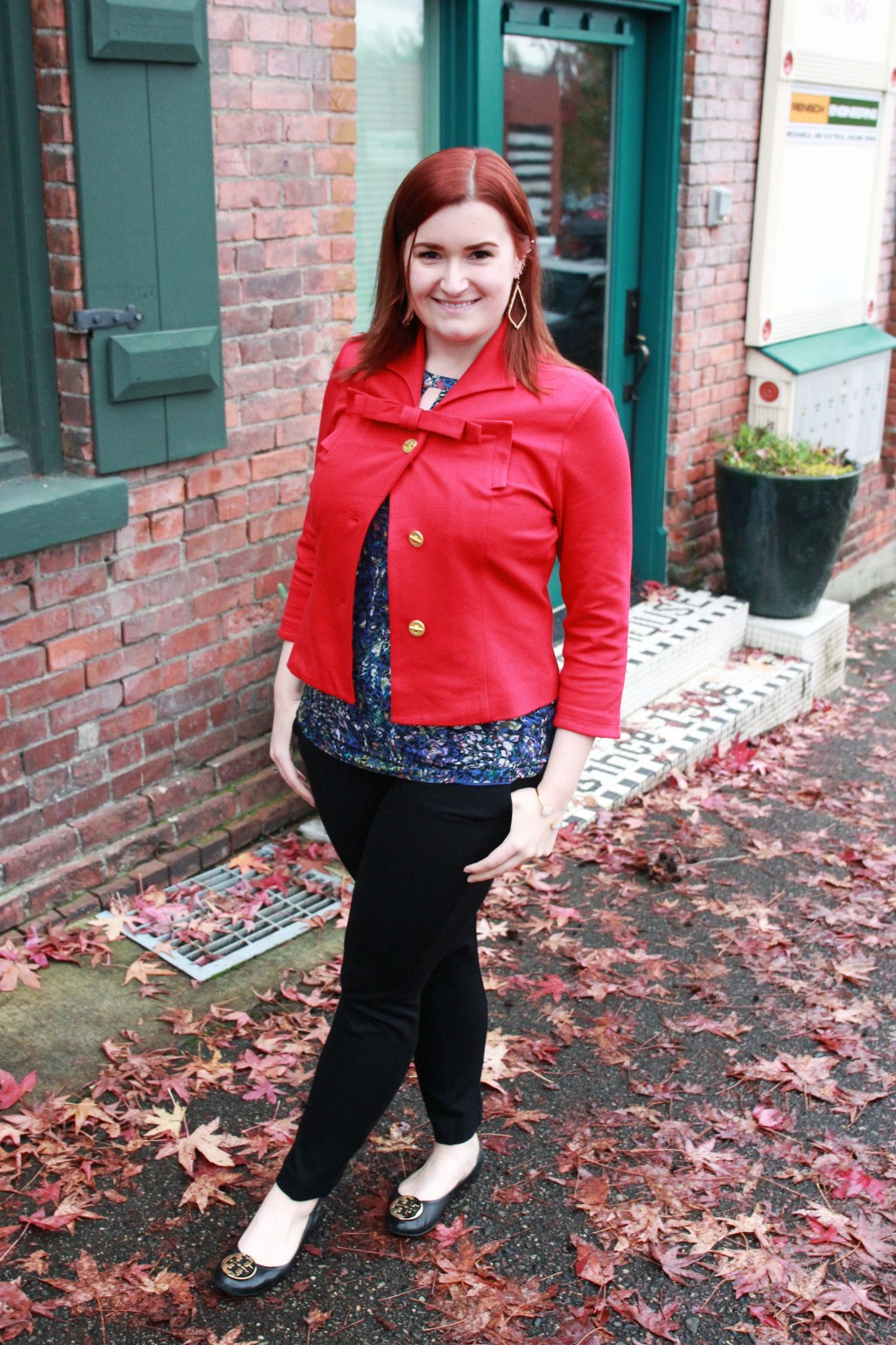 Complete CAbi Look - Beau Jacket, Stained Glass Blouse and Capote Trouser