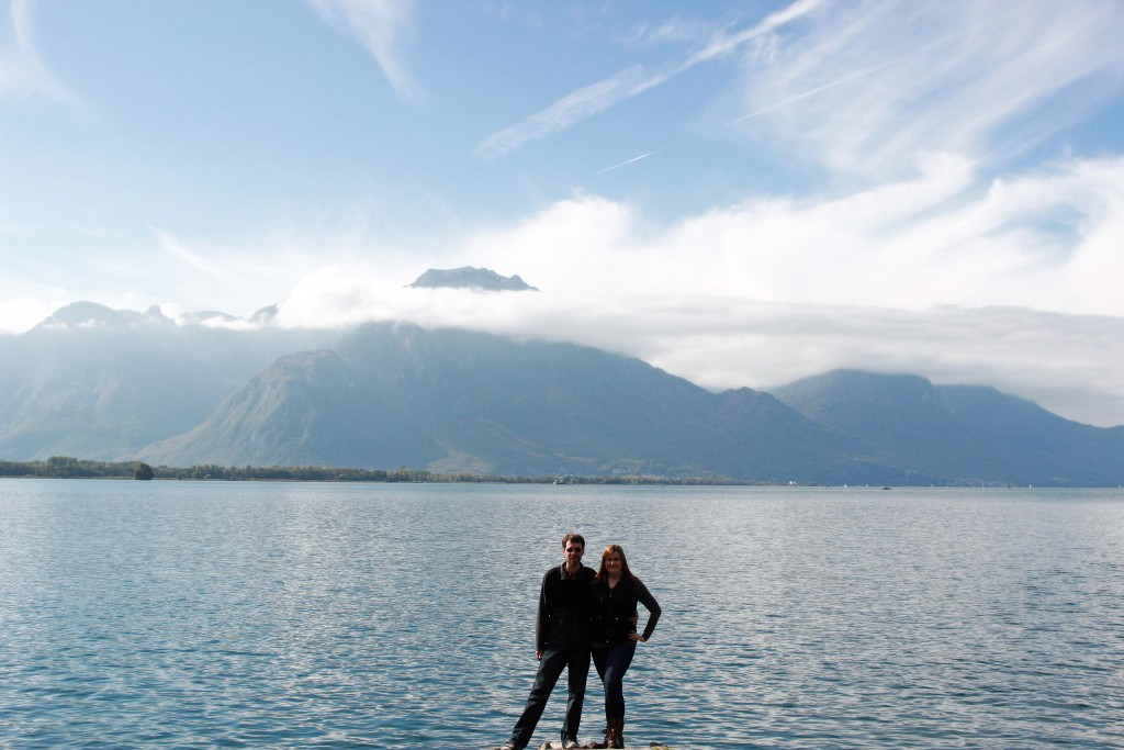 Kate and Jon in Montreux, Switzerland