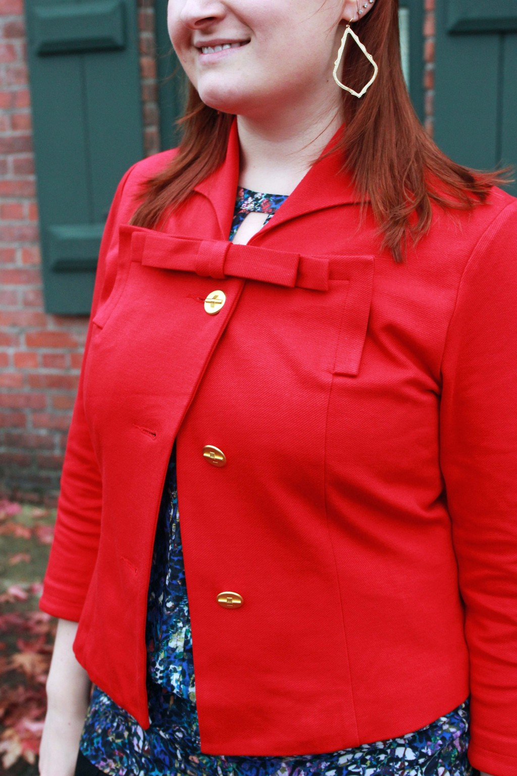 Red Jacket with bow