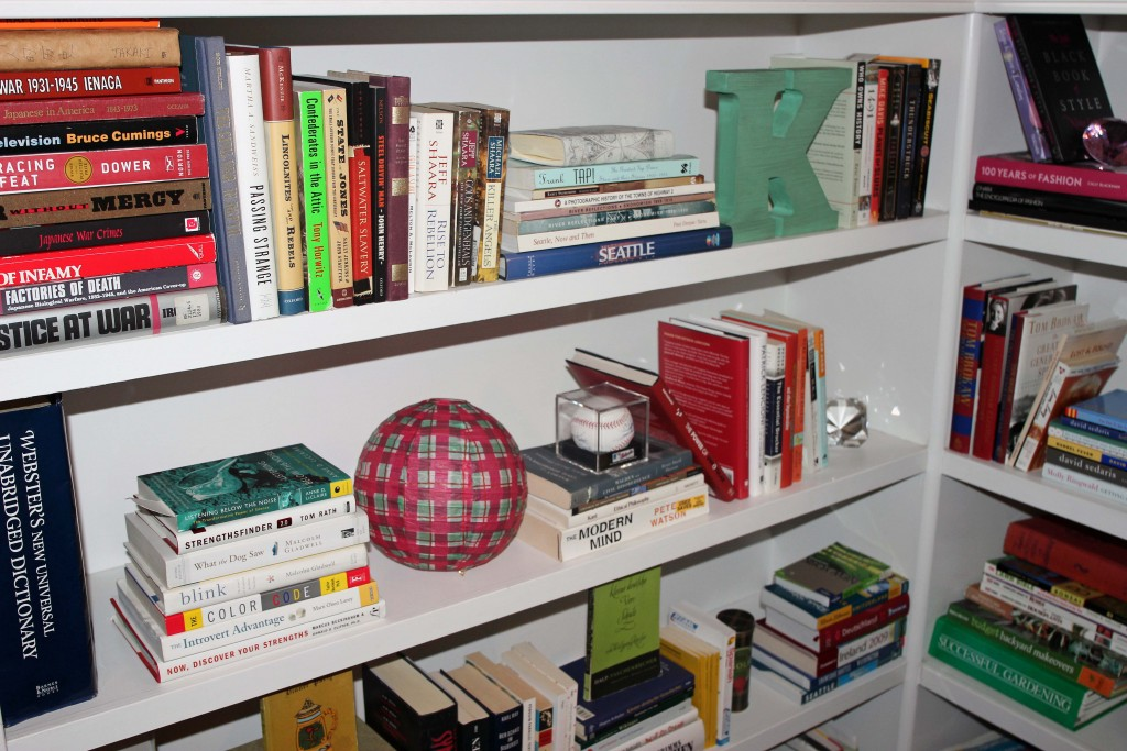 Staged bookshelf ideas