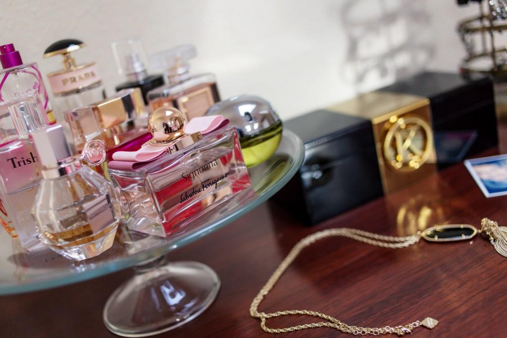 Perfume Display & Monogrammed Jewelry box