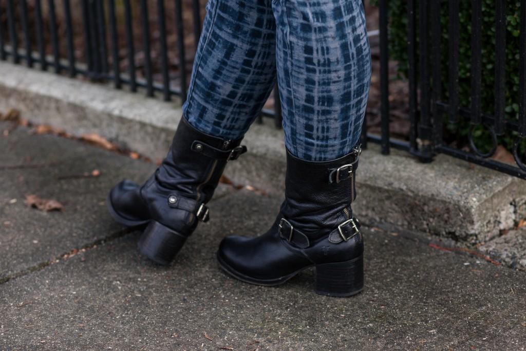13 - black frye boots