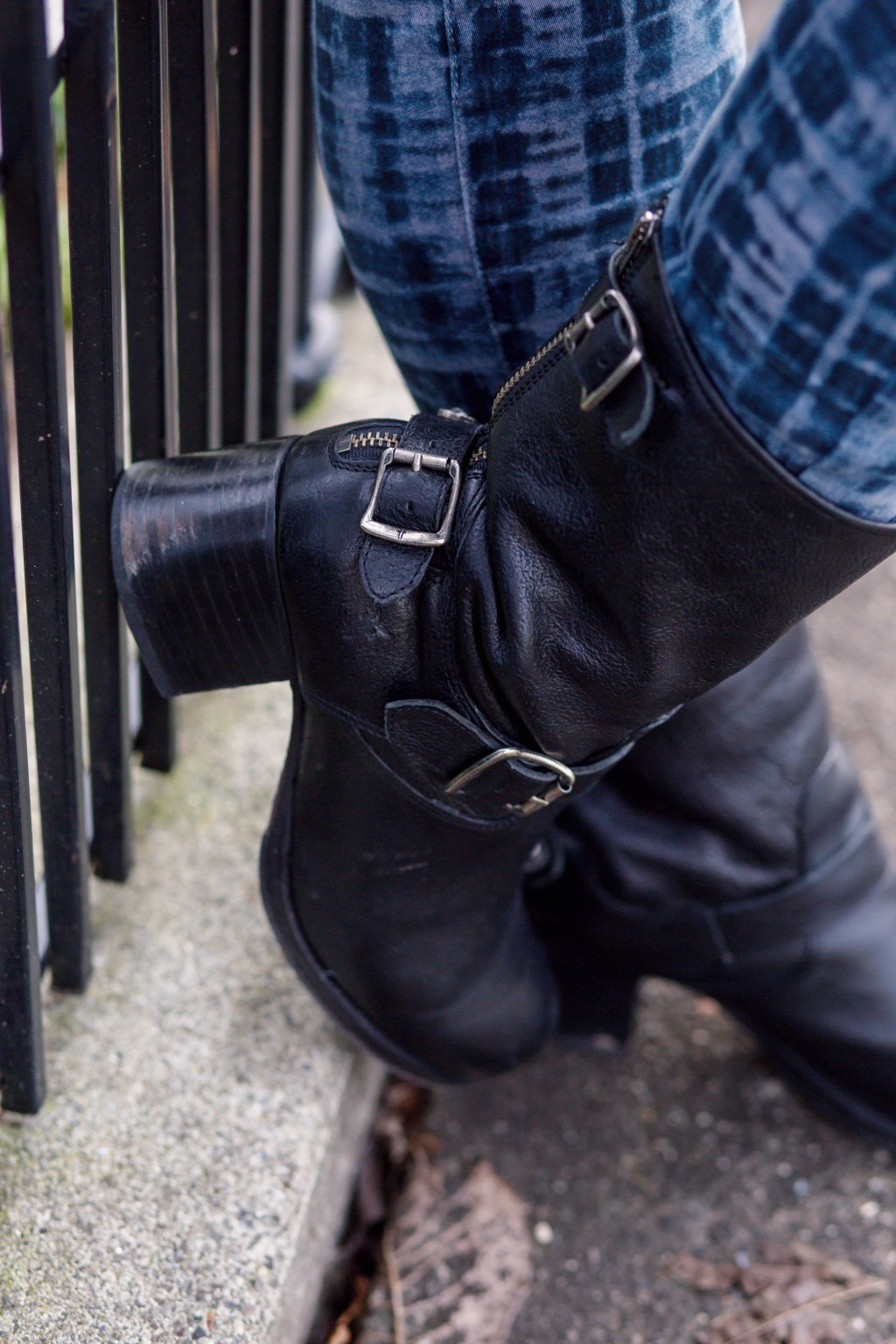 16 - edgy leather boots
