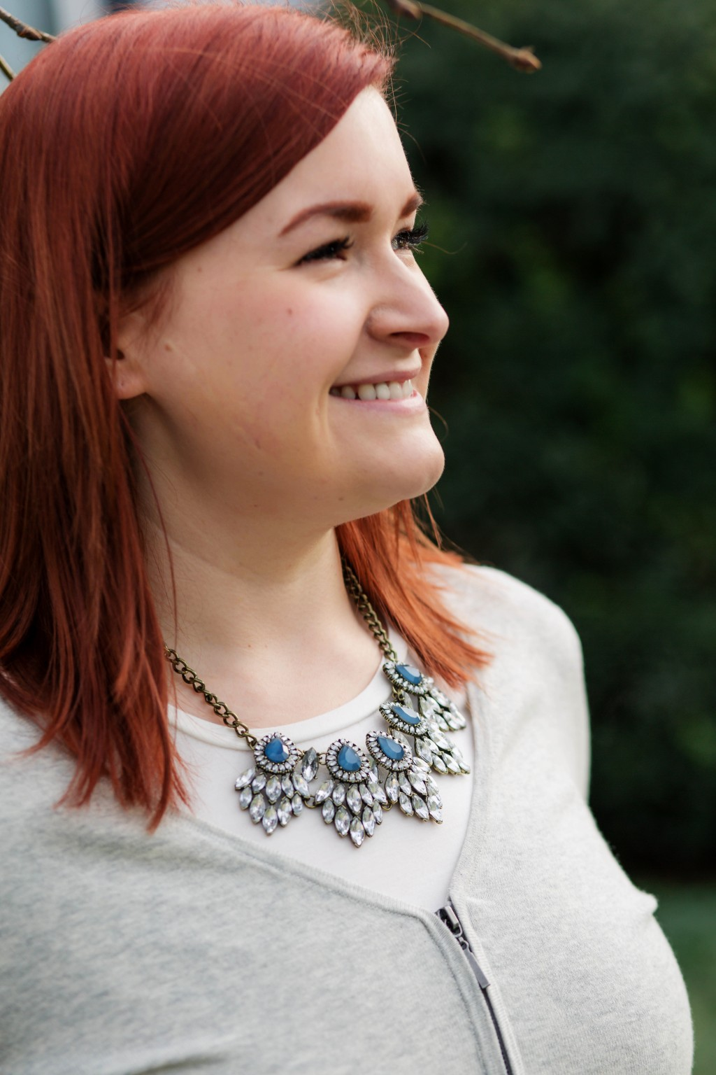 8 - blue and silver statement necklace