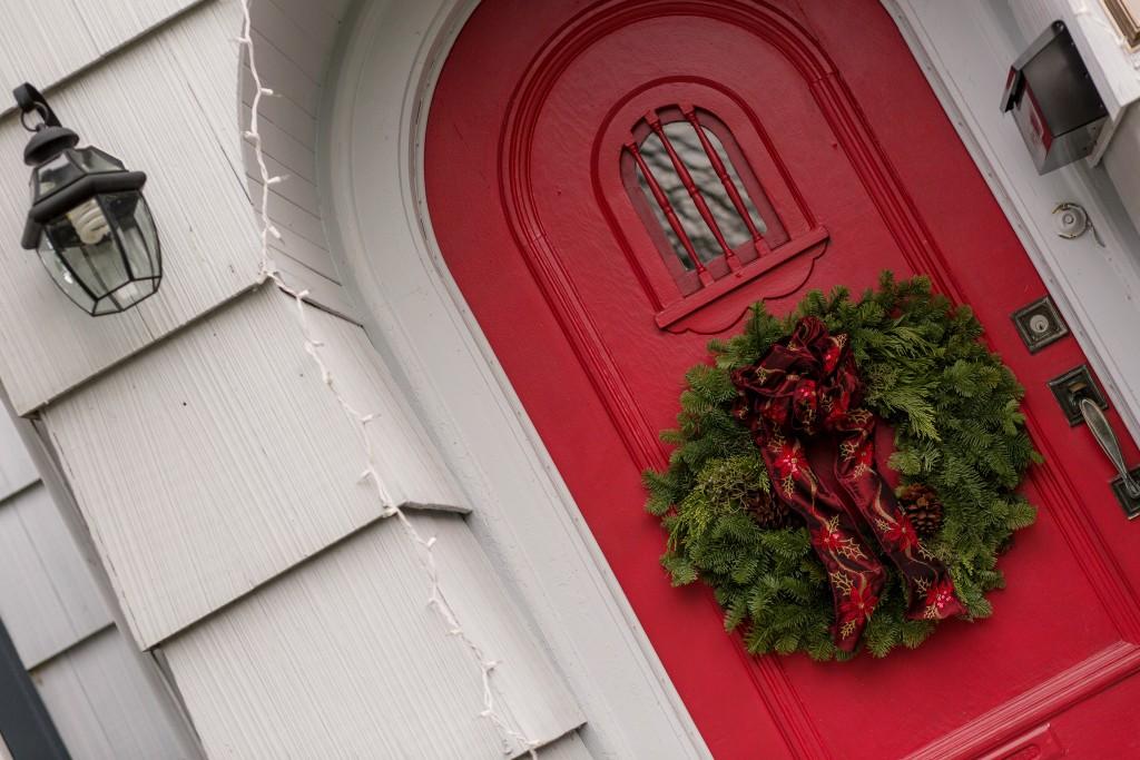 9 - Circular Red Door with wreath