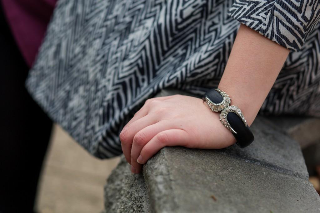 Alexis Bittar Black Cuff Bracelet