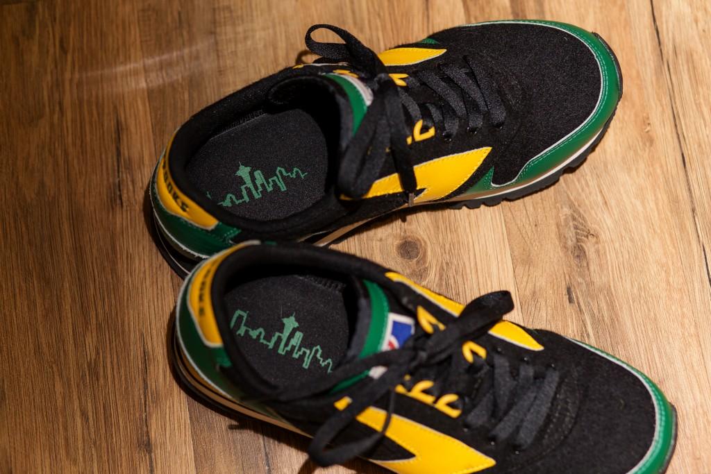 Brooks Running Seattle Sonics inspired sneakers