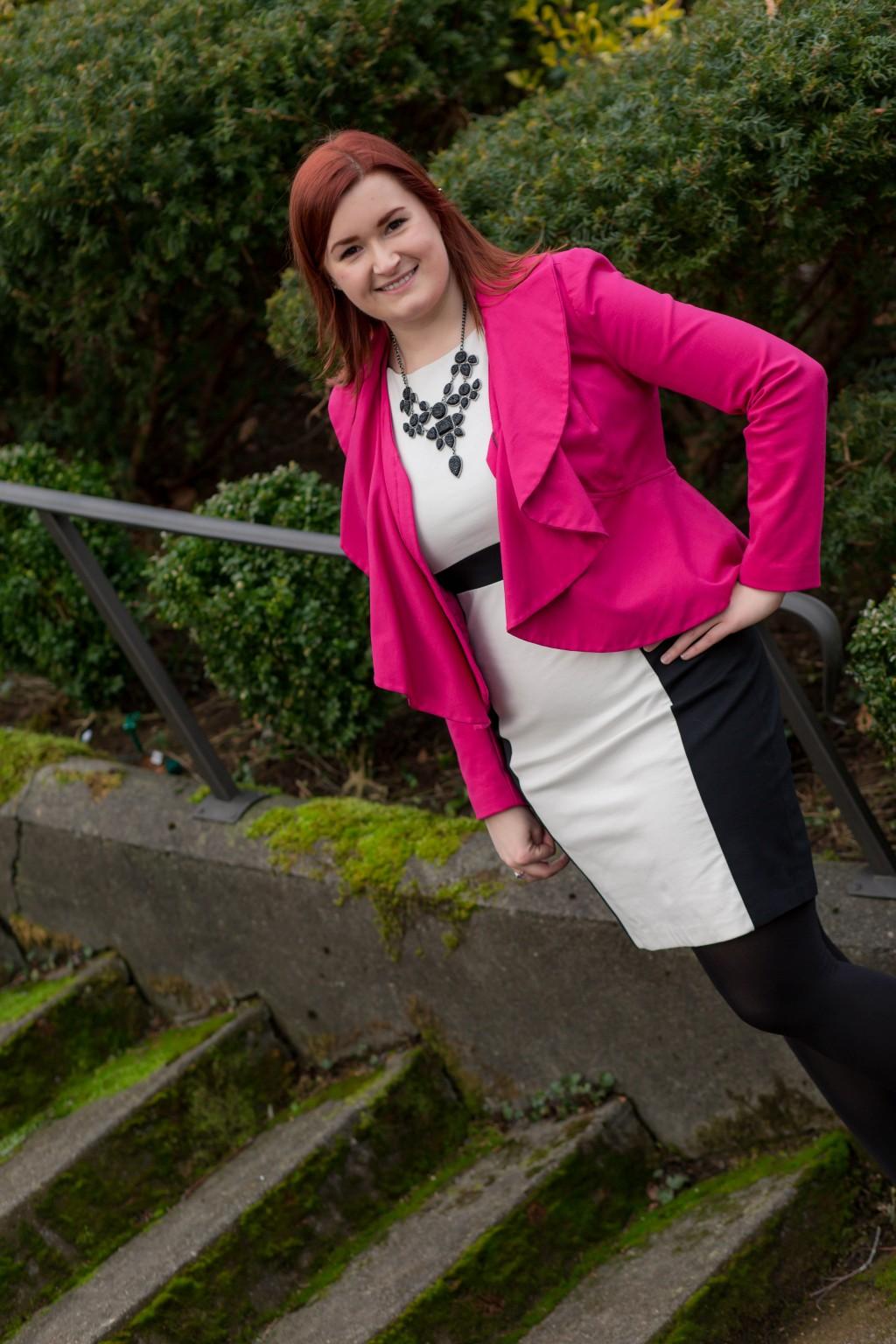hot pink ruffle jacket