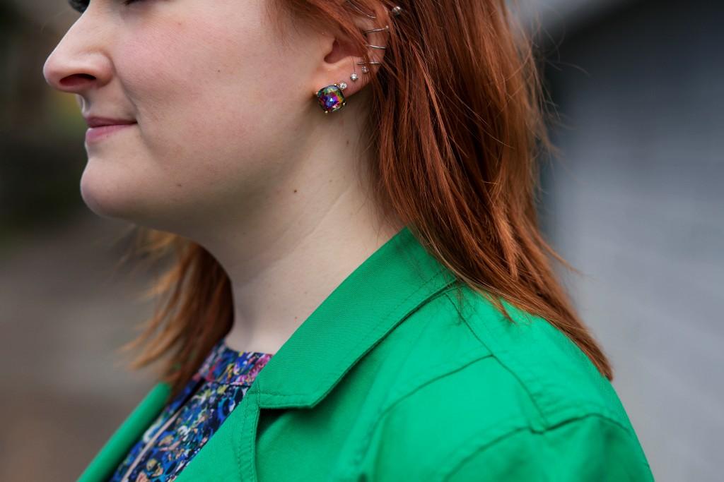 3 - Kate Spade gumdrop iridescent earrings