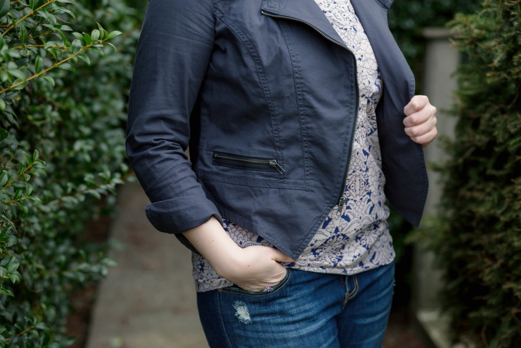 5 - Cabi Top, Jacket, and Jeans