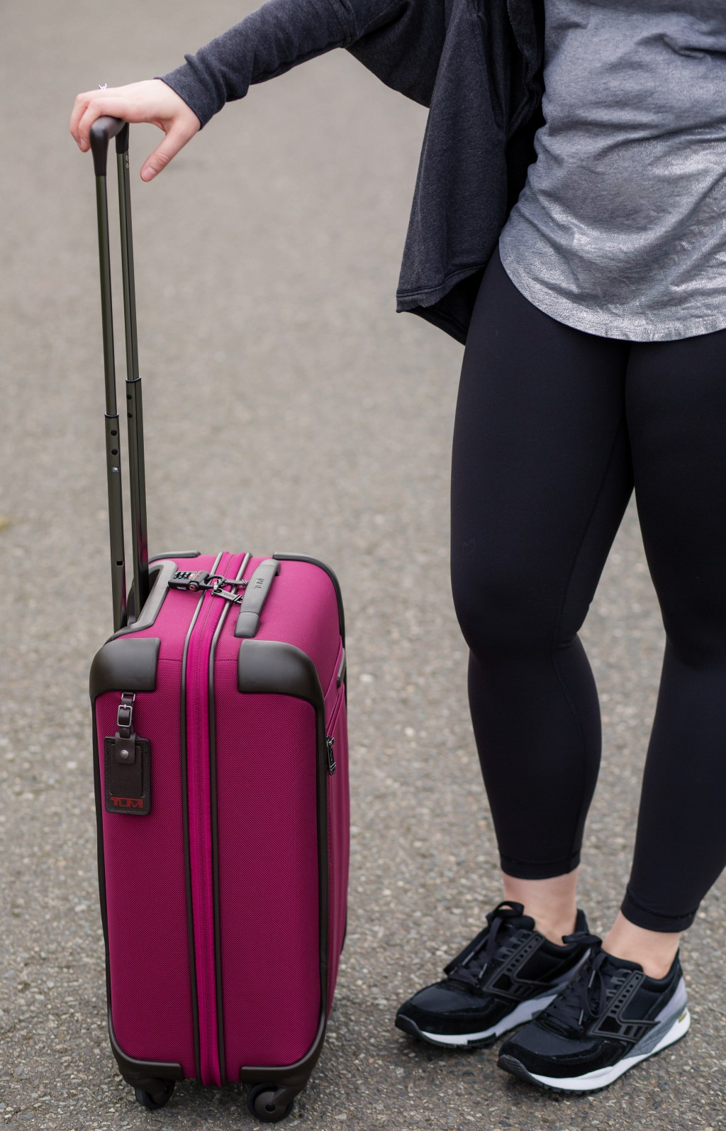 5 - Pink Tumi luggage