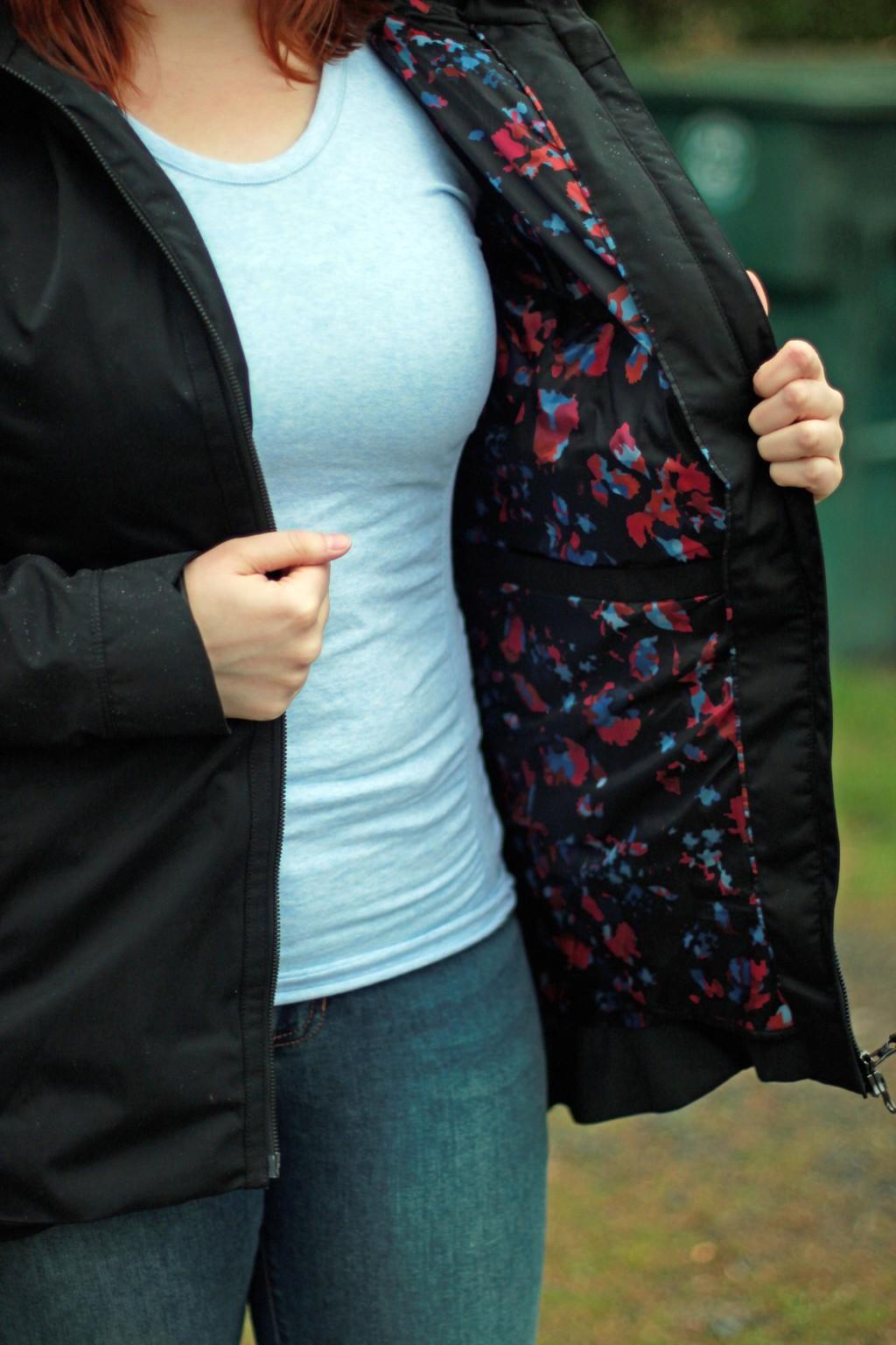 5 - floral pattern jacket liner