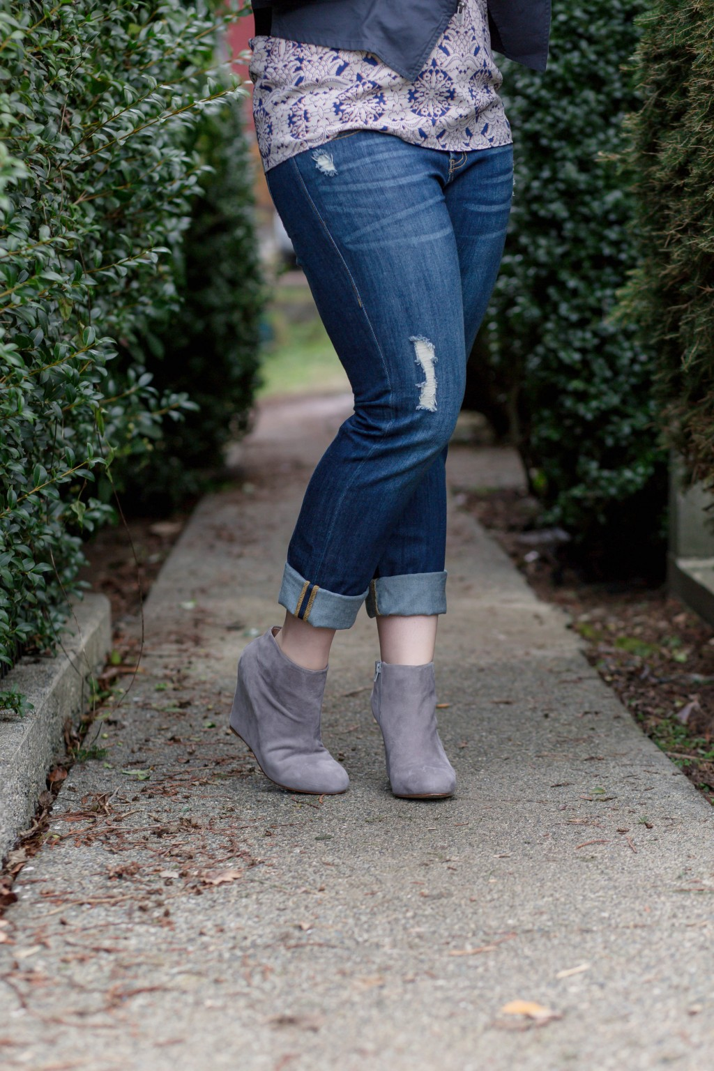 6 - Boyfriend ripped denim with booties