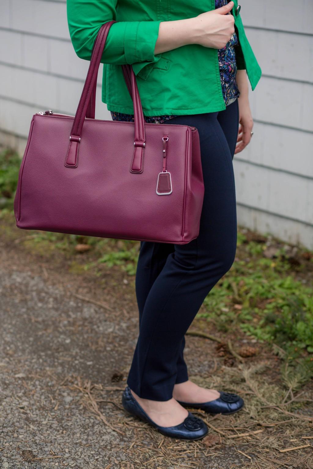 9 - maroon work bag for women