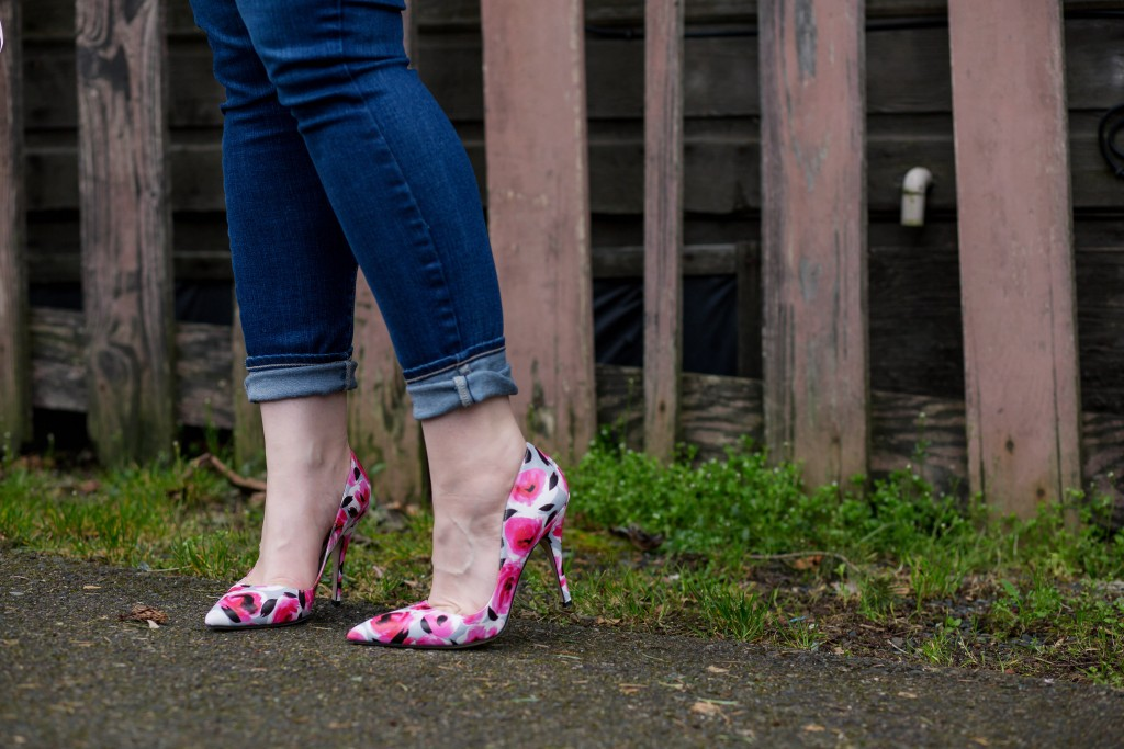 4 - Floral Print Kate Spade Licorice Too Pumps
