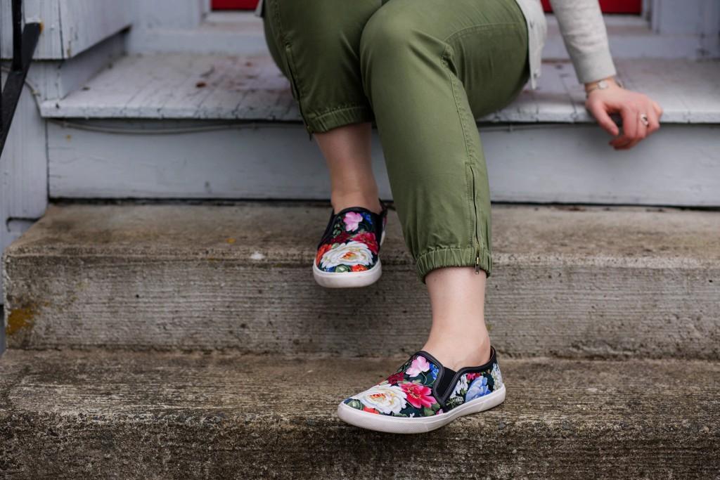 5 - Halogen Floral Print Slip On Shoes