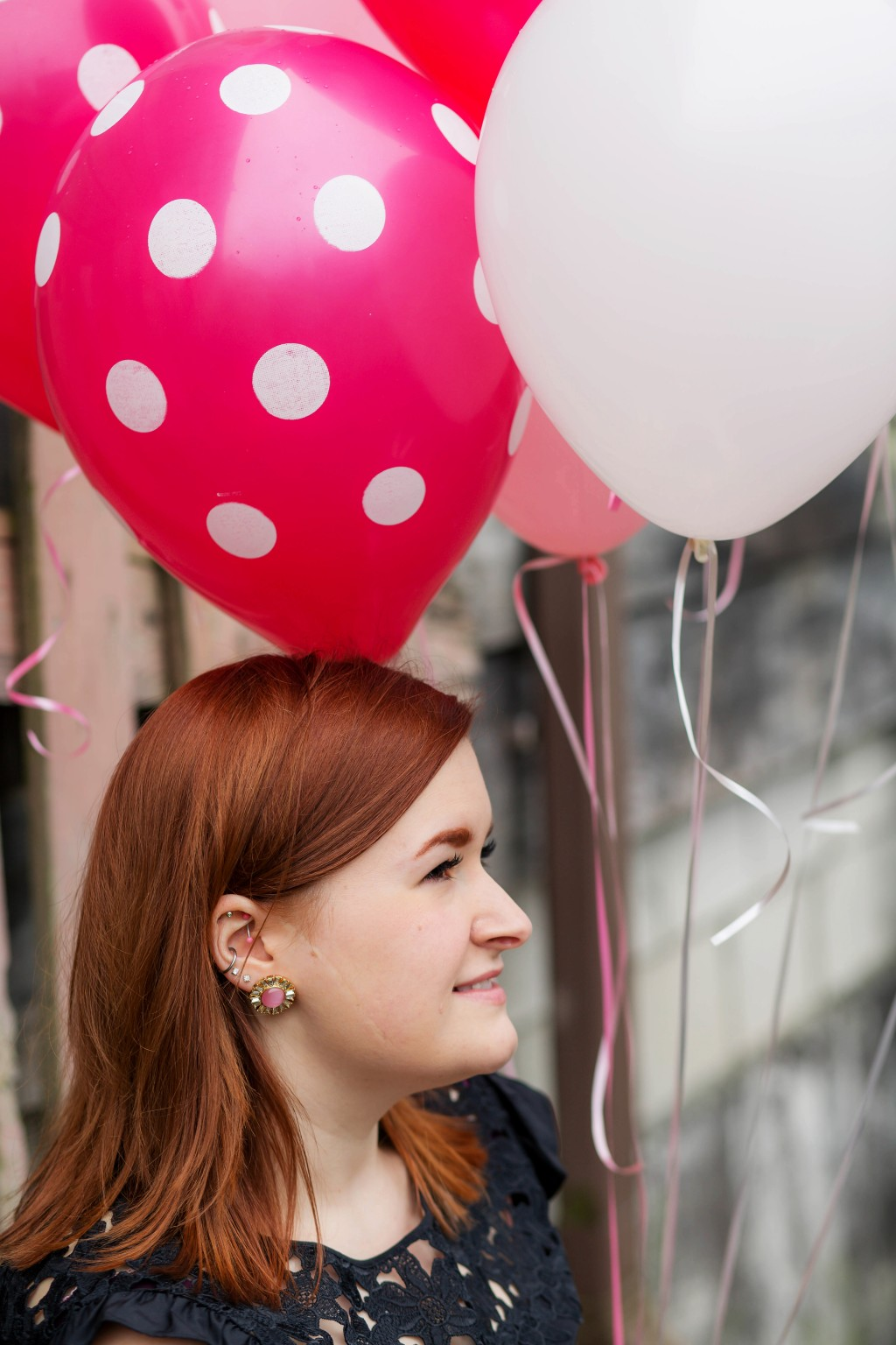7 - Kate Spade Earrings and polka dot balloons