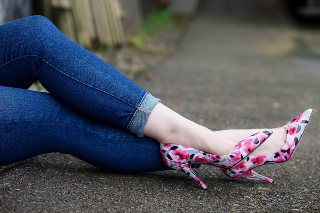 8 - Floral print statement shoes