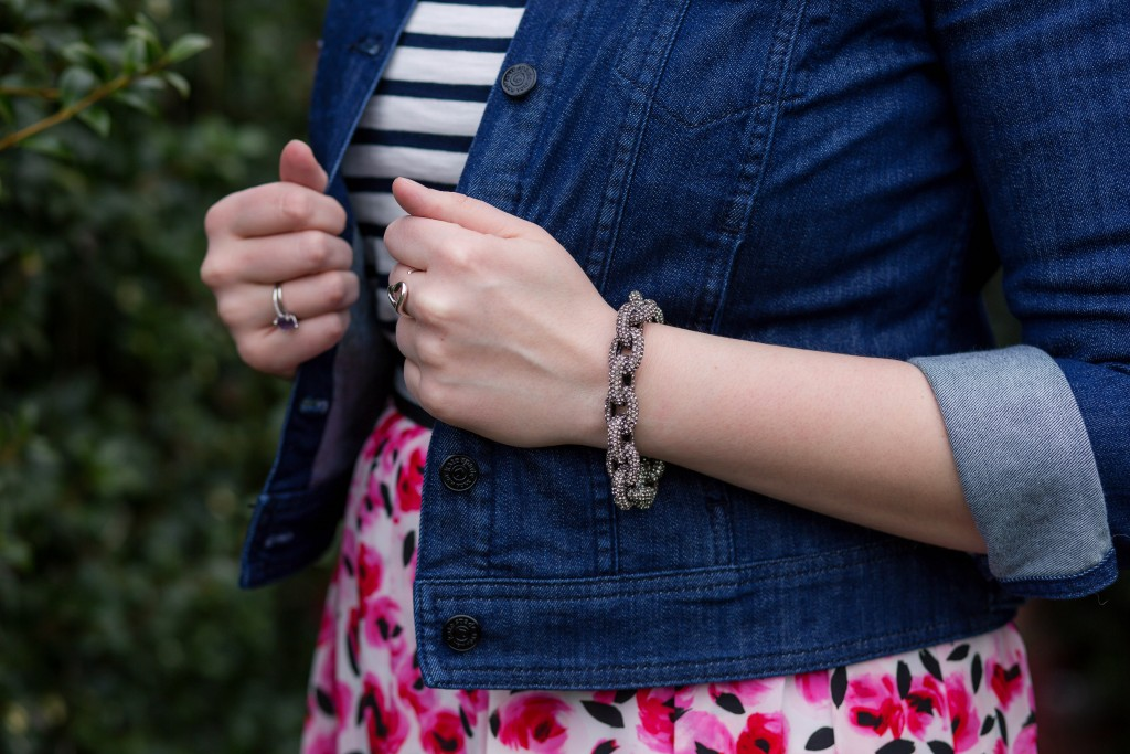 5 - J Crew pave stud bracelet