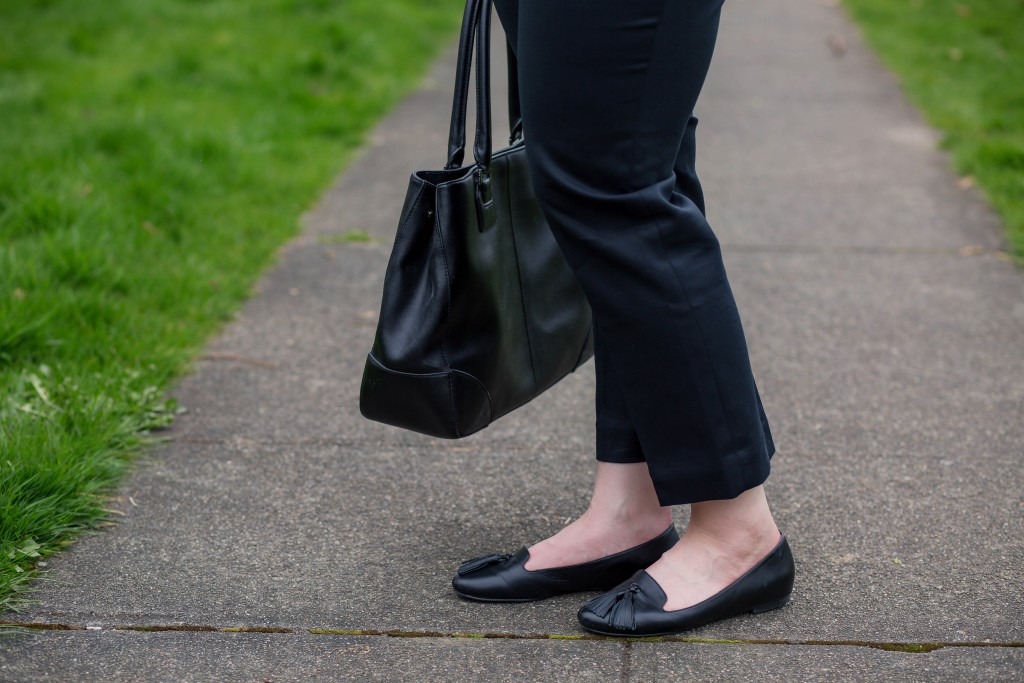 8 - Shoes of Prey Black Loafers with Tassles