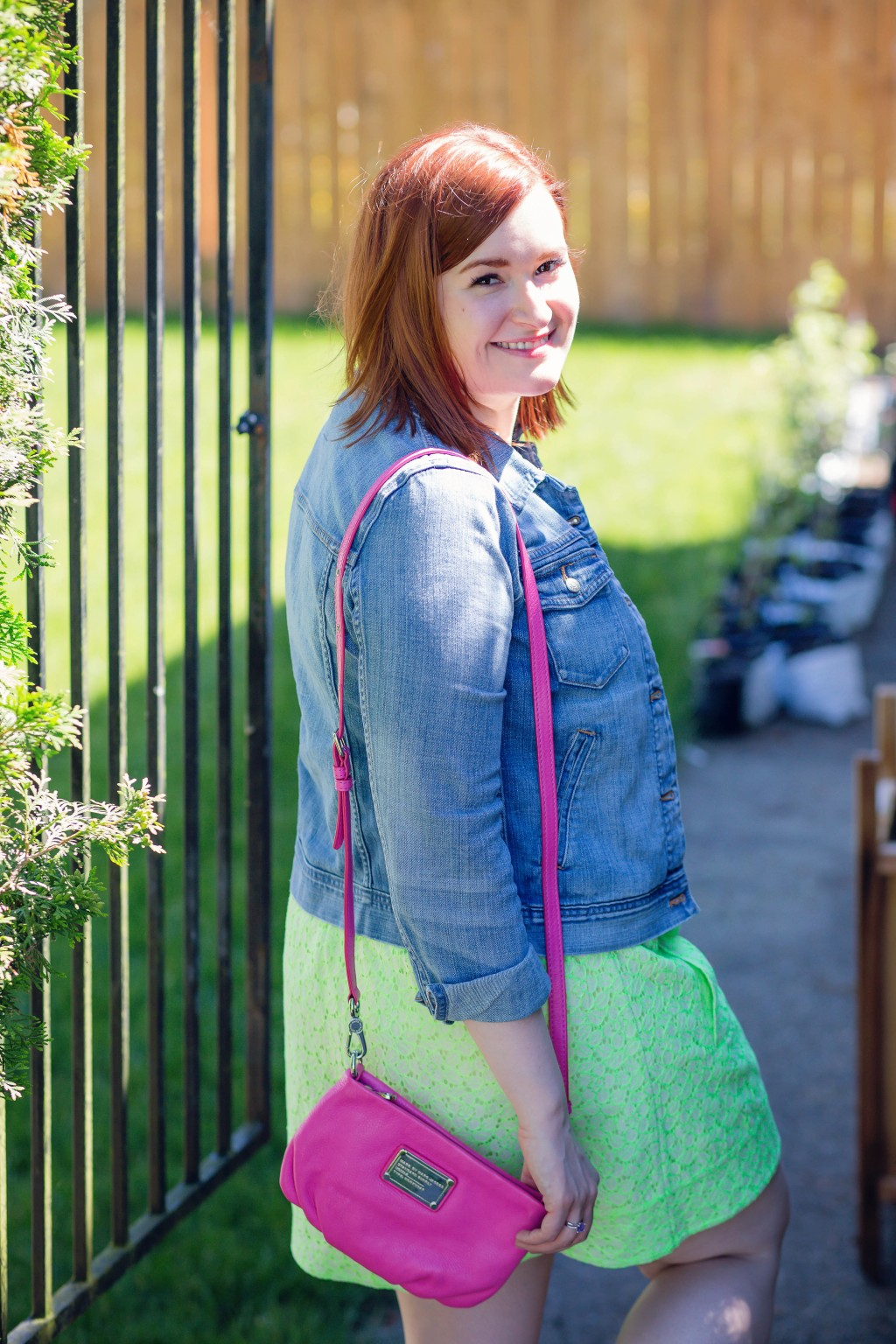 10 - jean jacket with neon colors for summer