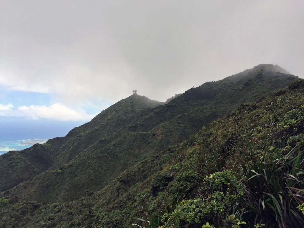 13 - Satellite Station at Top of Haiku Stairs, view from Moanalua Middle ridge