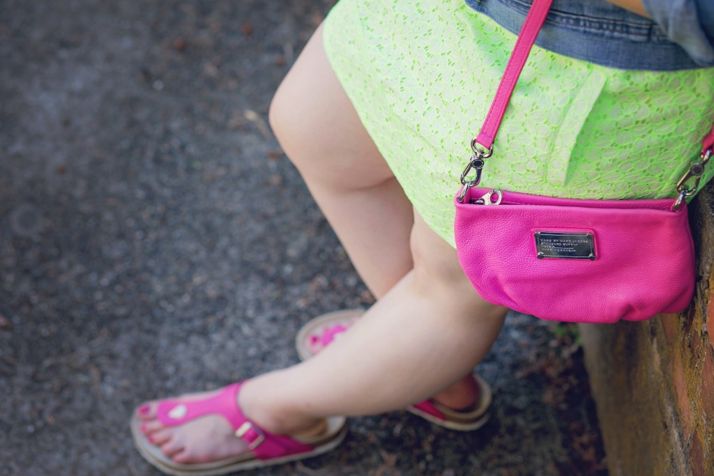 13 - matching hot pink shoes and purse