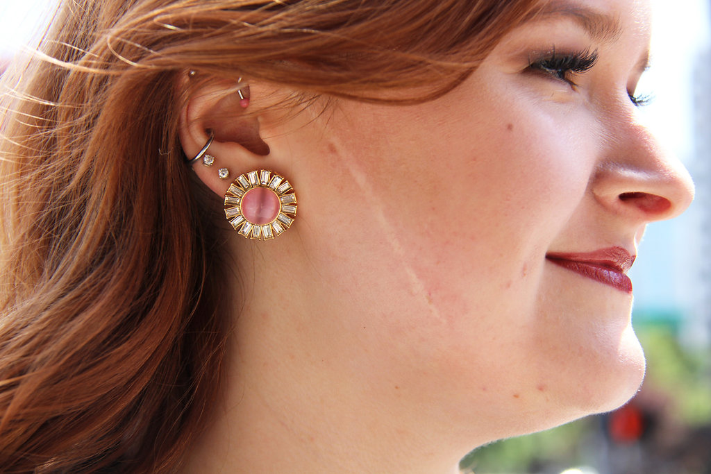 4 - Kate Spade Pink Sunburst earrings