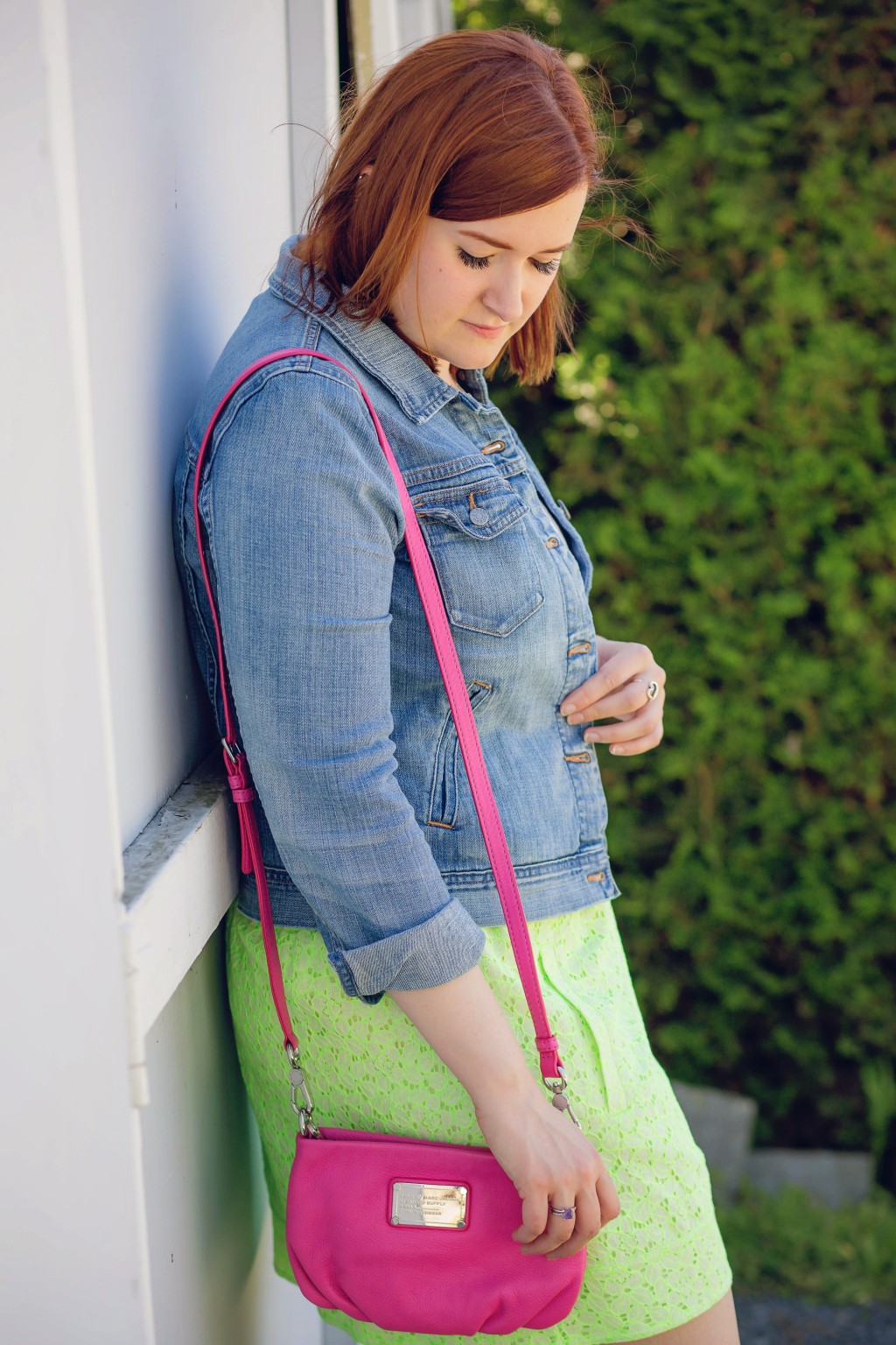 6 - mixing neon green and hot pink