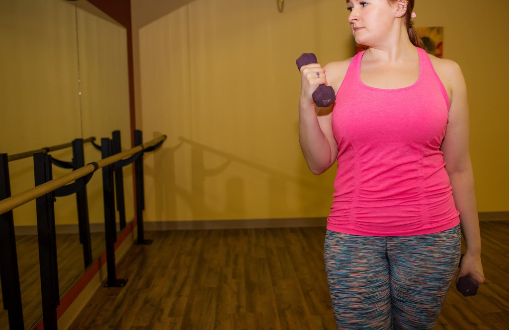 6 - sherbert colored workout clothes