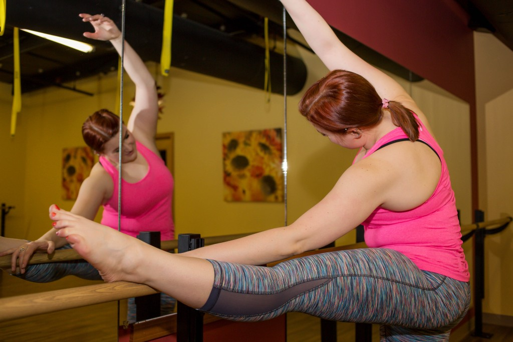 7 - Kate Retherford in Athleta and Zella workout clothes