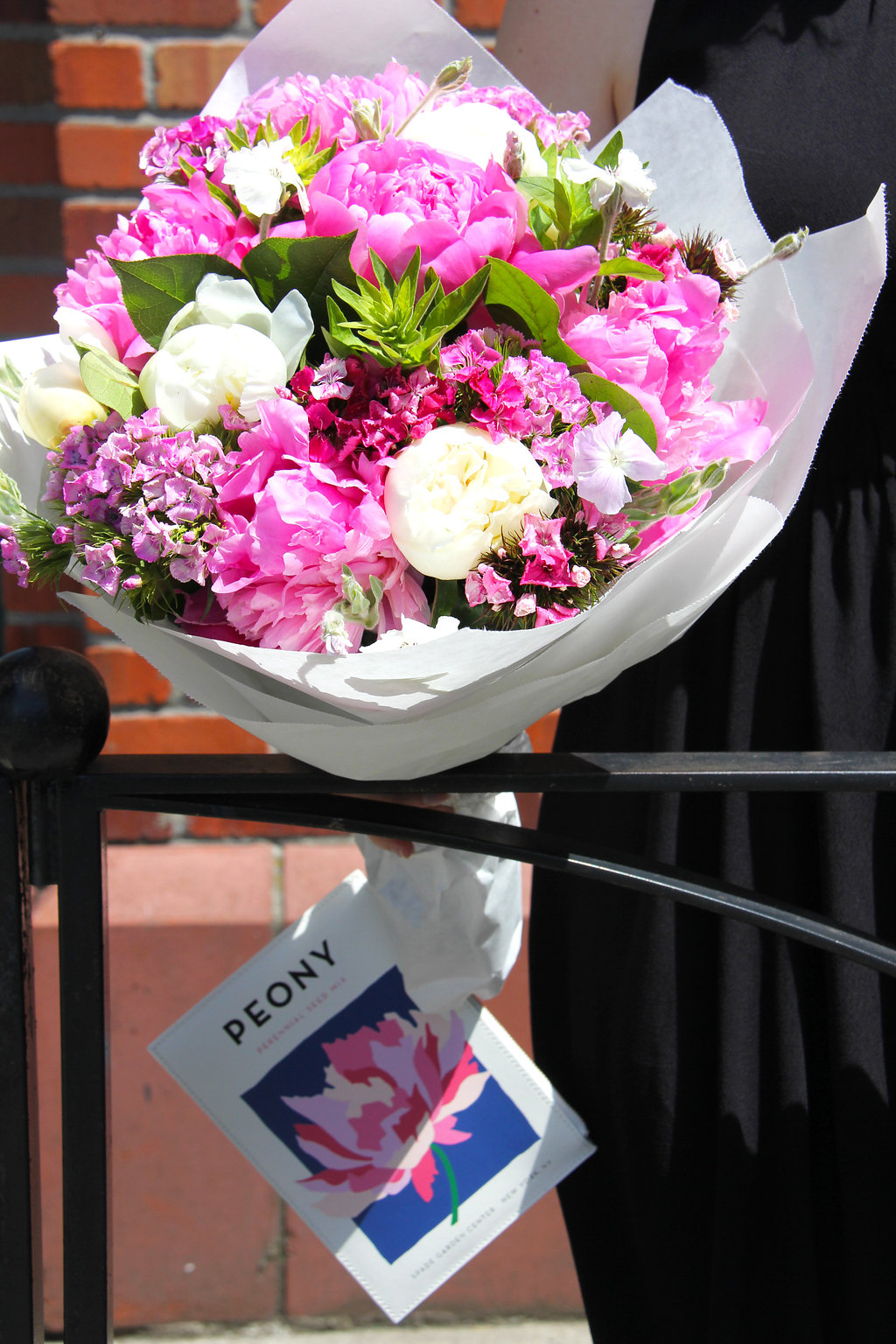 7 - Pike Place Market Peonies with Kate Spade peony mix clutch