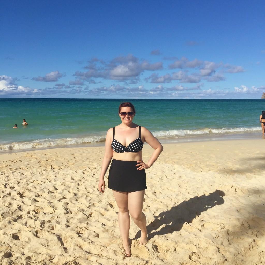 All Things Kate in polka dot bikini