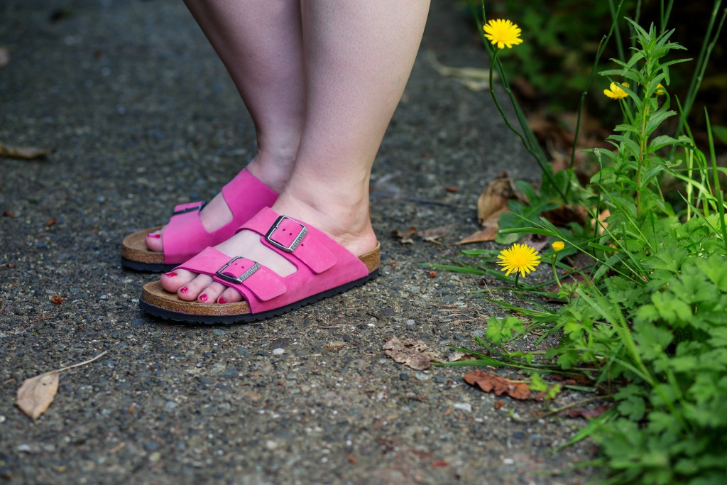 4 - hot pink birkenstock arizona sandals