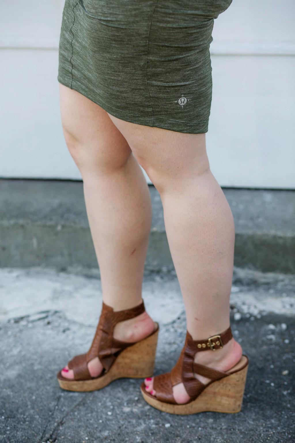 6 - Lululemon Wanderlust Skirt in Green