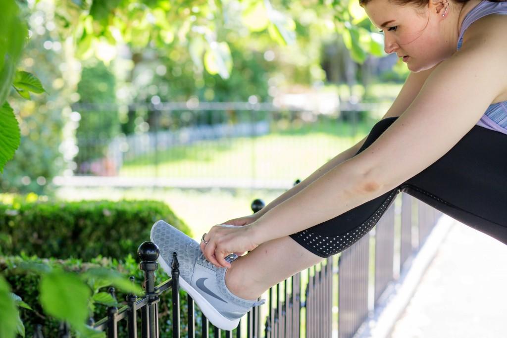 7 - gray Nike sneaks