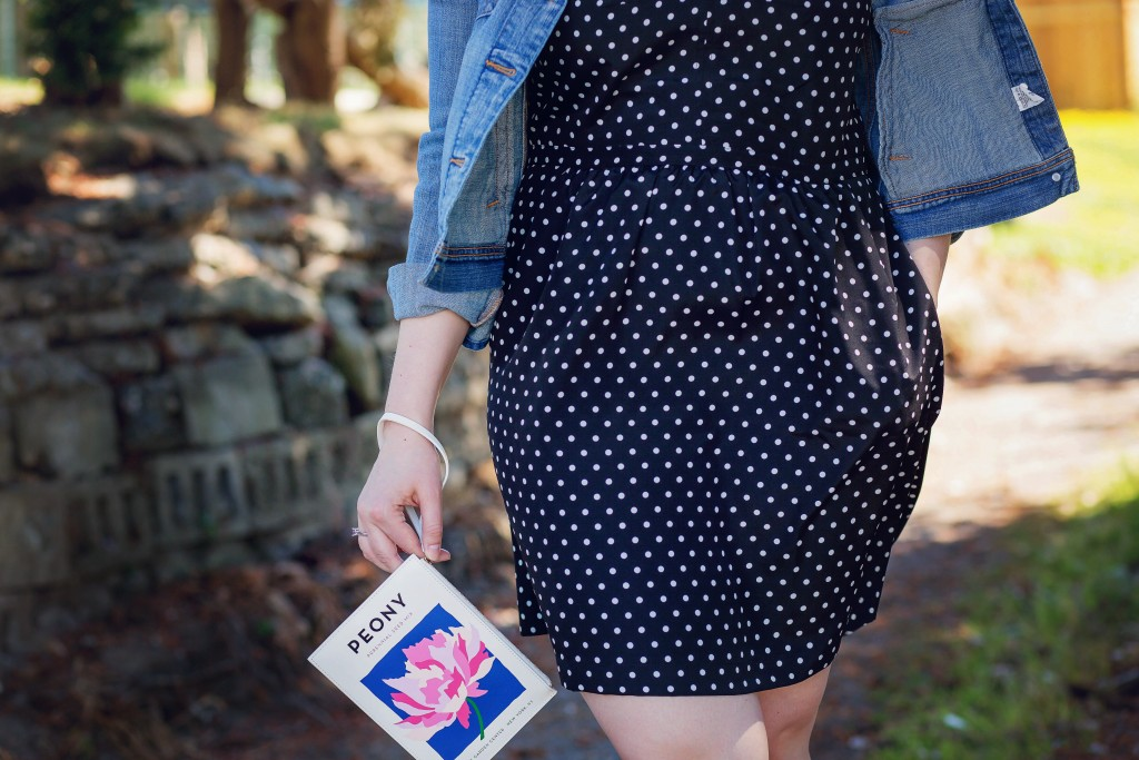 7 - polka dots with denim