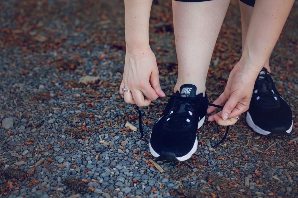 10 - tying Nikes