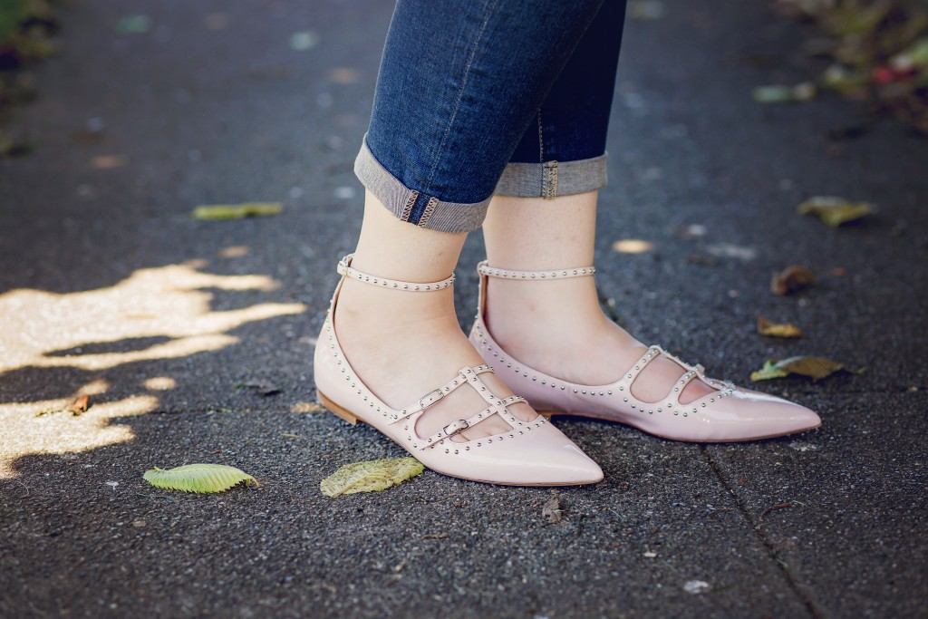 11 - studded flats with ankle strap