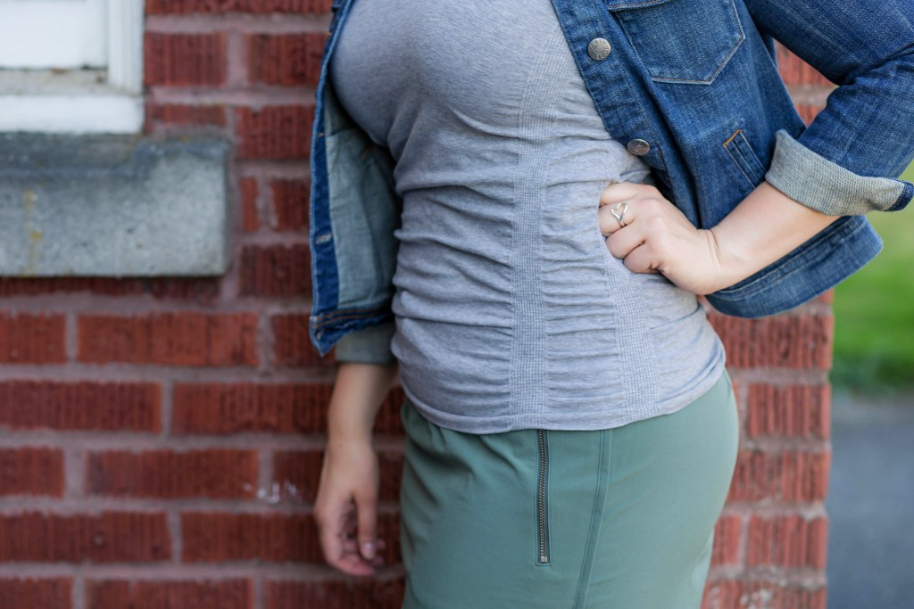 4 - Athleta Pure Top styled with street clothes