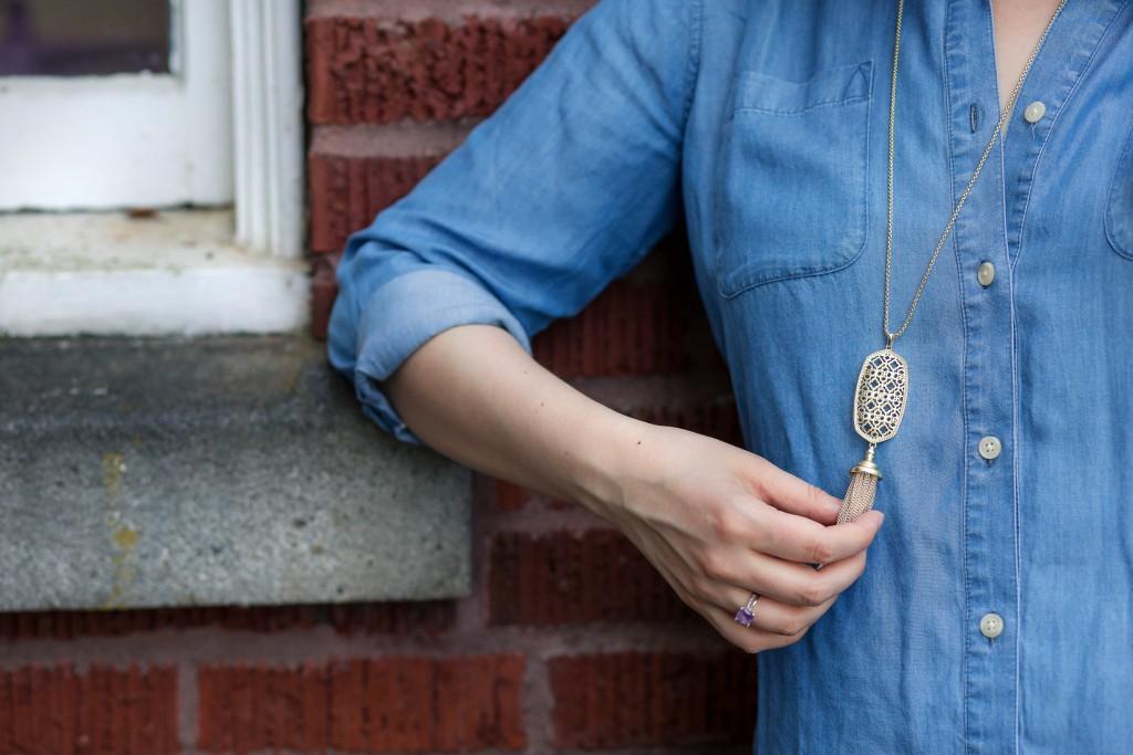 4 - Kendra Scott Benning Necklace in gold