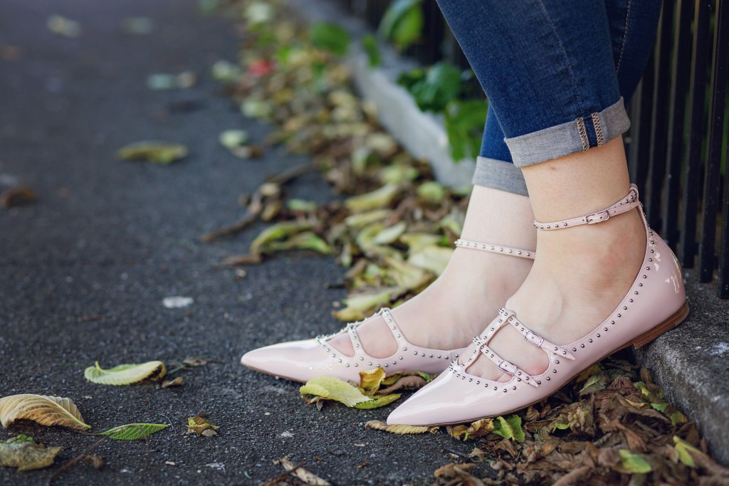 6 - Givenchy Elegant Piper Pointy Toe Studded Flat