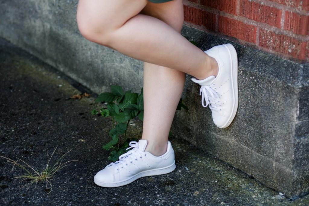 8 - all white stan smiths
