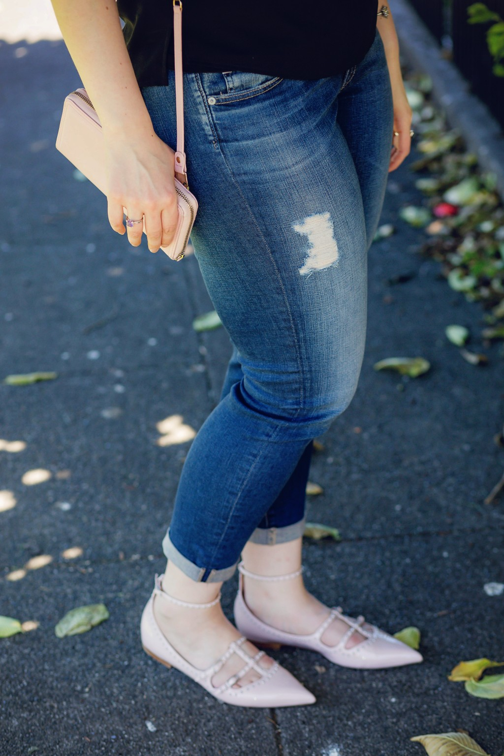 9 - Distressed jeans
