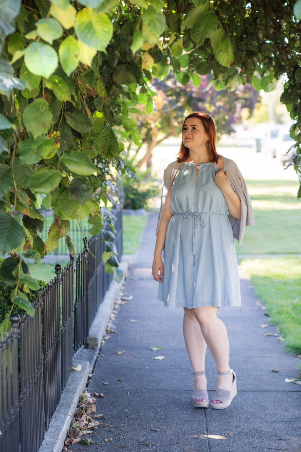 1 - easygoing chambray dress for summer