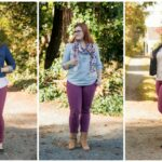 Maroon Skinnies Styled 3 Different Ways
